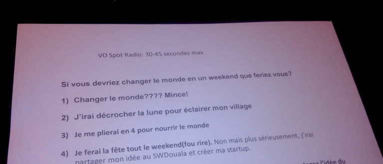 Article : Douala accueille la Startup Weekend