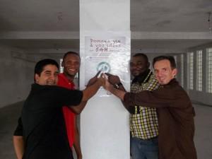 Hussein d'activspaces, Benn Ngnet organisateur de la SWDouala, Patrick Tchientche, Guillaume Soto